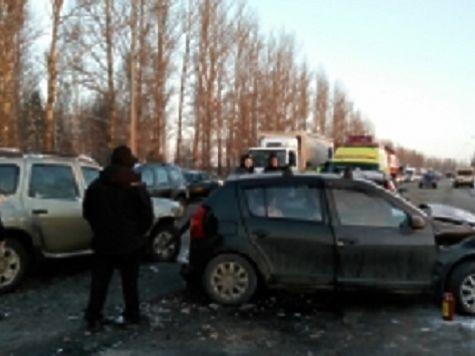 4 иномарки столкнулись наокружной дороге: двое пострадавших