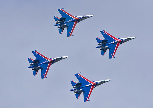 Внебе над Ярославлем выступит группа высшего пилотажа «Русские витязи»