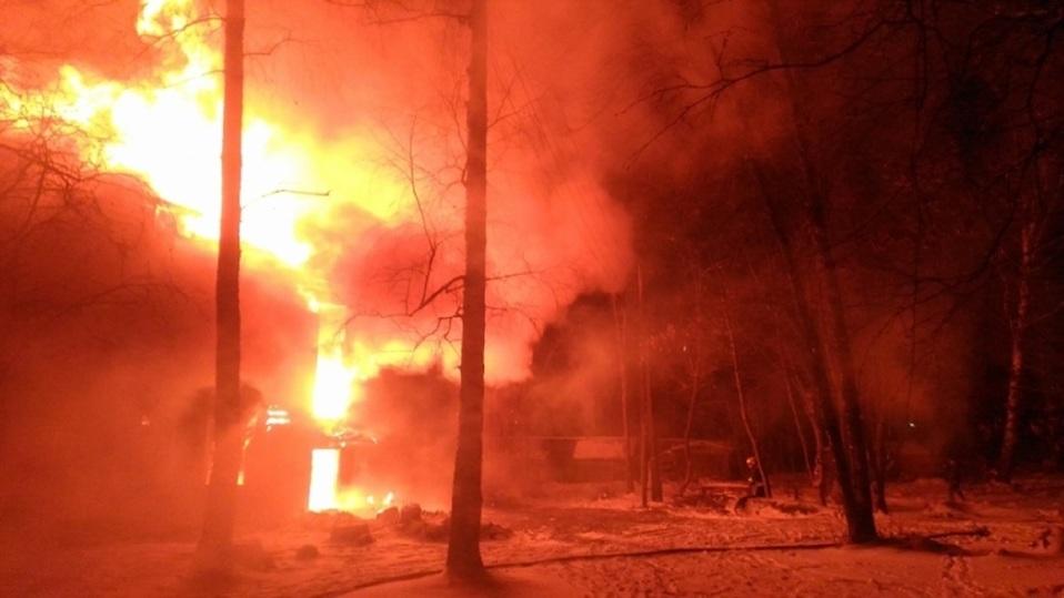 ВЯрославле больше 5-ти часов тушили пожар врасселенном доме